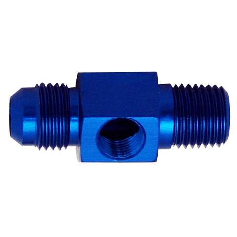 Flare to Pipe Adapter with Port